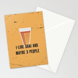 Funny Chai 3 People Quote Stationery Cards