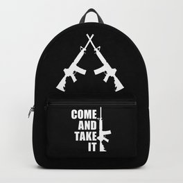 Come and Take it with AR-15 inverse Backpack