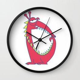 Uppercase D, no border Wall Clock