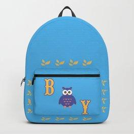 Owl Baby Boy Backpack