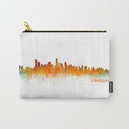 Vancouver Canada City Skyline Hq v02 Carry-All Pouch