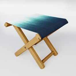 Teal Ombré Folding Stool