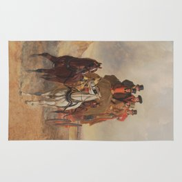 The Royal Mail Coach on the Road - John Herring  Rug