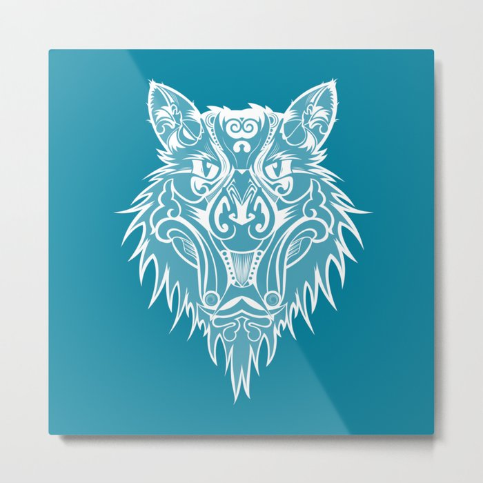 Marcel the cat wolf Metal Print