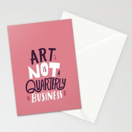 Art is Not... Stationery Cards