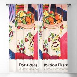 Donation Picasso Exhibition poster - Musée du Louvre Blackout Curtain