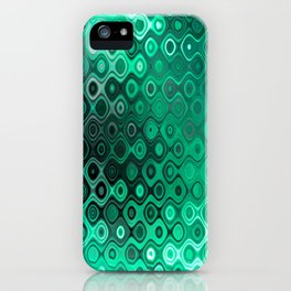 Wobbly Dots Light in mint green iPhone Case