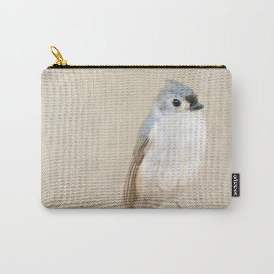 Bird Little Blue Carry-All Pouch