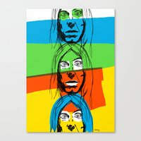 iggy Canvas Prints featuring Iggy by Mohac