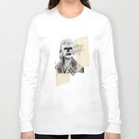 kate moss Long Sleeve T-shirts featuring Kate Moss by FAMOUS WHEN DEAD