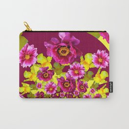 MODERN FUCHSIA & YELLOW FLORALS  ART Carry-All Pouch
