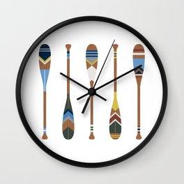 Painted Oars Wall Clock