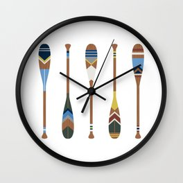 Painted Oars Wall Clock