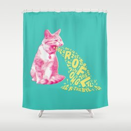 Word Vomit Shower Curtain