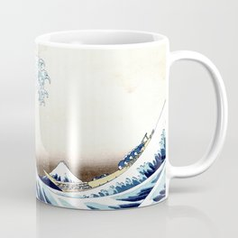 The Great Wave off KanagawA muted Coffee Mug