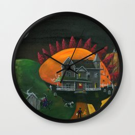 Hilly Haunted House Wall Clock