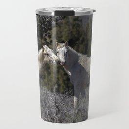 Wild Horses with Playful Spirits No 1 Travel Mug
