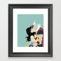A Match Made In Asgard Framed Art Print