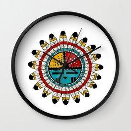 Hopi Kachina Native American design Wall Clock