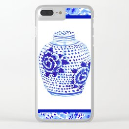 Chinoiserie Ginger Jar No. 1 Clear iPhone Case