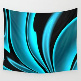 Abstract Fractal Colorways 02 Pacific Blue Wall Tapestry