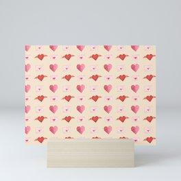 Flying Origami Hearts Mini Art Print