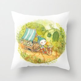 On the Road ! Throw Pillow