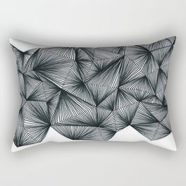 Triangles and lines Rectangular Pillow