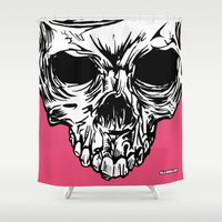 kindle Shower Curtains featuring 111 by ALLSKULL.NET