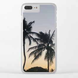 Sunset Palms Clear iPhone Case
