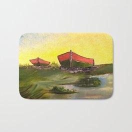Days End   Oil on Canvas Bath Mat