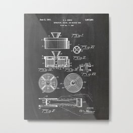 Developer film tank patent Drawing Metal Print
