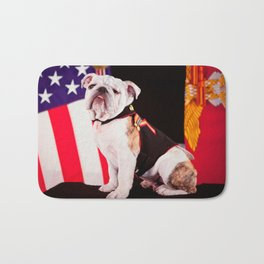 Bulldog Navy Official Mascot Dog Bath Mat