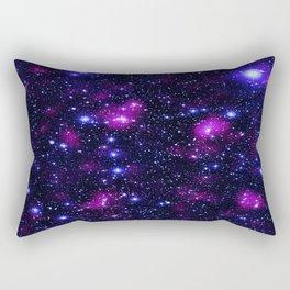 GalAxy Purple Blue Stars Rectangular Pillow