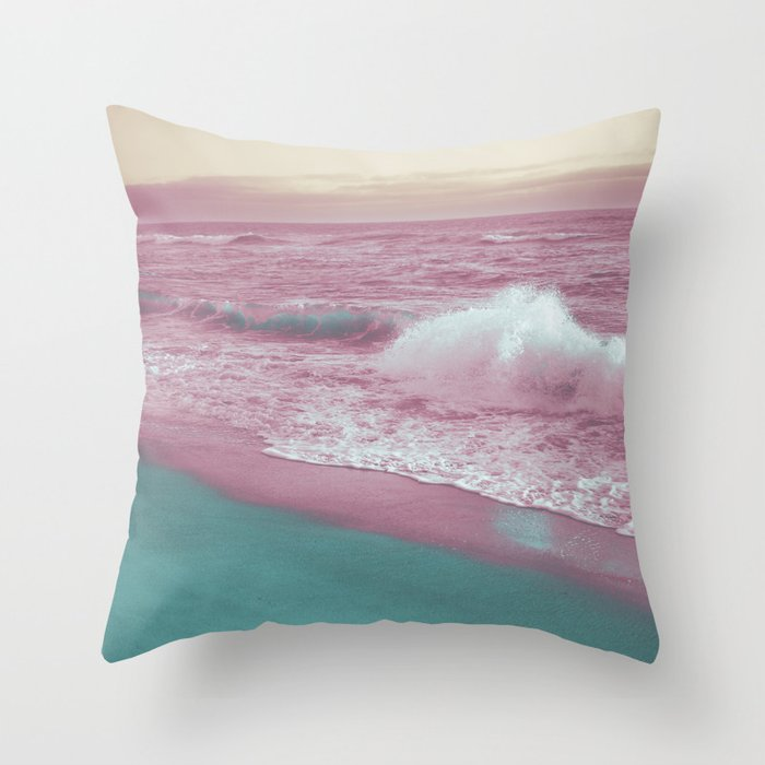Pop Art Ocean Throw Pillow