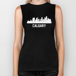 Calgary Alberta Canada Skyline Cityscape Biker Tank