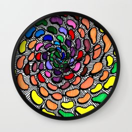 The Jelly Bean Explosion Wall Clock