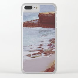 Stone and Sea Clear iPhone Case