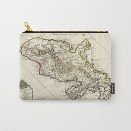 Map Of Martinique 1730 Carry-All Pouch
