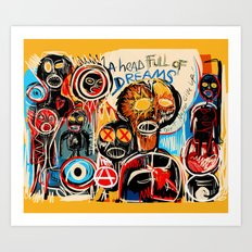 Head full of dreams Art Print