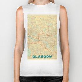 Glasgow Map Retro Biker Tank