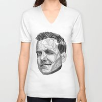lawyer V-neck T-shirts featuring Specter by Wink