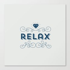Relax grey Canvas Print