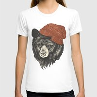 square T-shirts featuring zissou the bear by Laura Graves