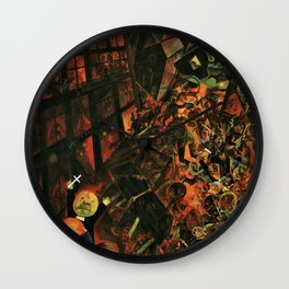 The Funeral - Dance of Death (Hellscape) by George Grosz Wall Clock