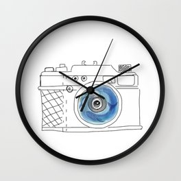 Underwater camera: mom & baby whale Wall Clock