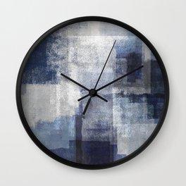 Marine on Gray Abstract Wall Clock