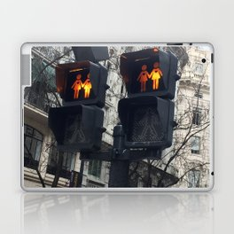 Gay Street Lights (Lesbian Couple) Laptop & iPad Skin