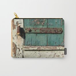 Old Wood an Rusty Grunge Barn Door Carry-All Pouch