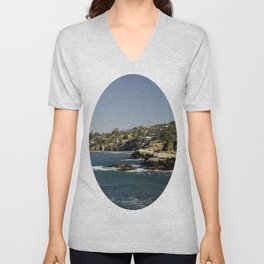 Lazy Day in La Jolla Unisex V-Neck